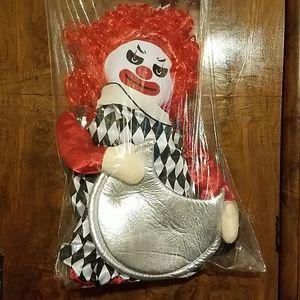 Creepy clown costume.